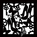 butterfly cogs shoes  Stencil 8x8 inches  min buy 3